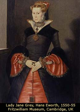 Portrait of Jane Grey by Hans Eworth, Fritzwilliam Museum, Cambridge, UK